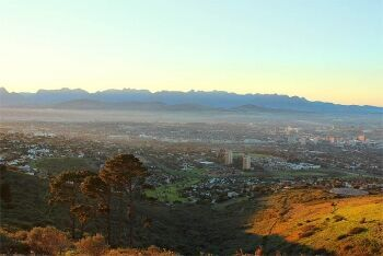 View from Tygerberg Hills, Cape Town's Northern Suburbs, Western Cape